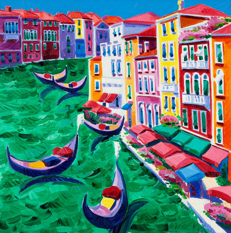 Venedig Italien vektor illustrationer