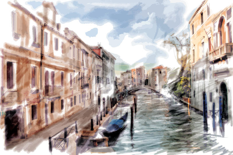 Venedig Italien royaltyfri illustrationer