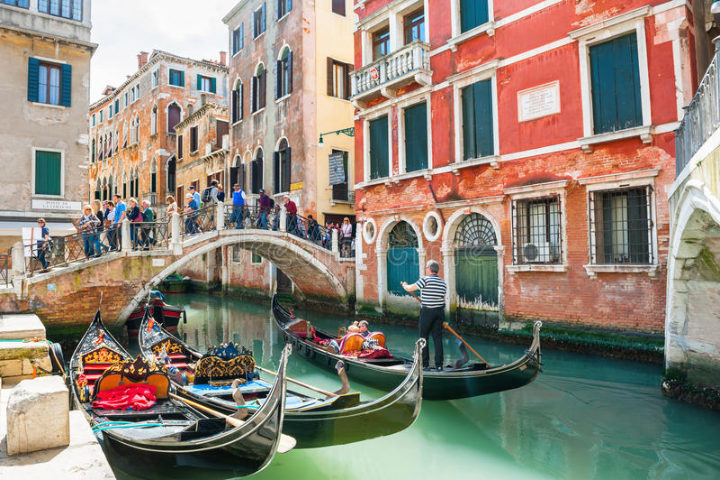 Venedig Italien - April 15, 2016 arkivbilder