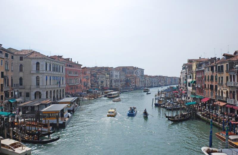 Afton i Venedig arkivbilder