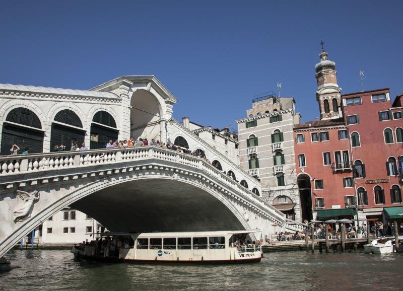 Venedig, Italien - die Rialto-Brücke lizenzfreies stockfoto