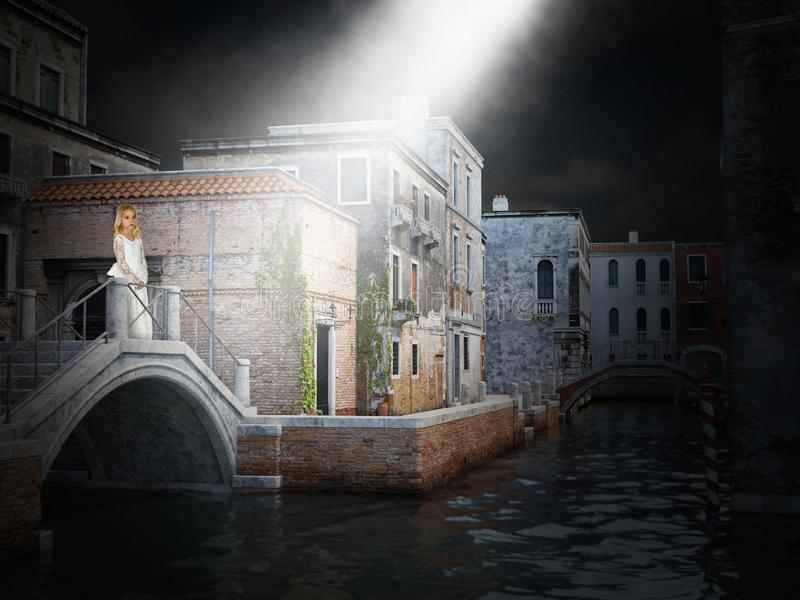 Venedig Italien, Fantasy, Young Girl lizenzfreies stockbild