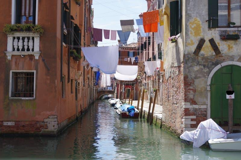 Venedig Italien, filial av Rio della Sensa royaltyfri fotografi
