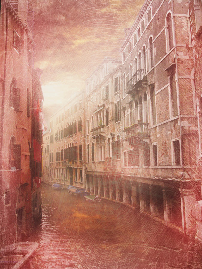 Venedig Italien in fine konstfoto royaltyfria bilder