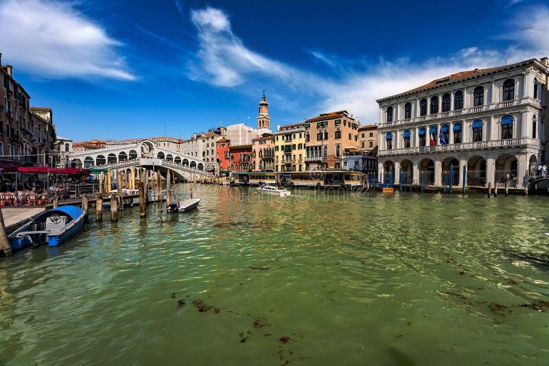 Venedig Italien, Grand Canal arkivbilder