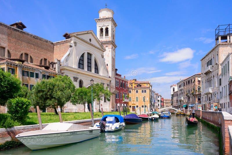 VENEDIG, ITALIEN - MAI 2017: ?berraschende Ansicht ?ber das sch?ne Venedig, Italien lizenzfreie stockfotografie