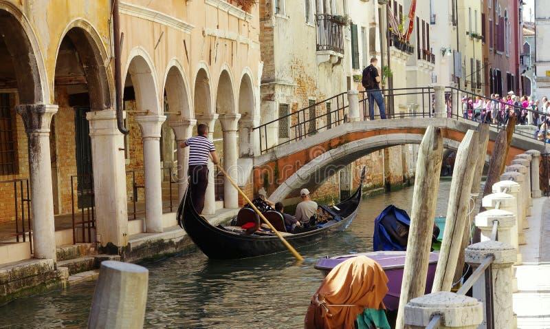 Venedig Italien, Ubaldo Belli bro royaltyfria bilder