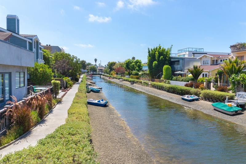 Venedig kanaler i Los Angeles royaltyfri foto