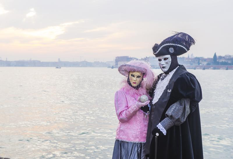 Venedig karneval 2019 royaltyfria foton