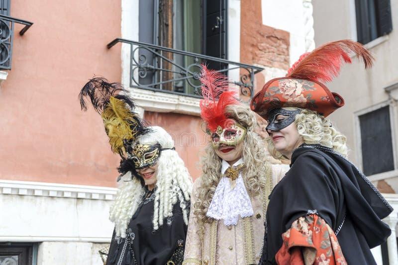 Venedig karneval 2019 royaltyfri fotografi