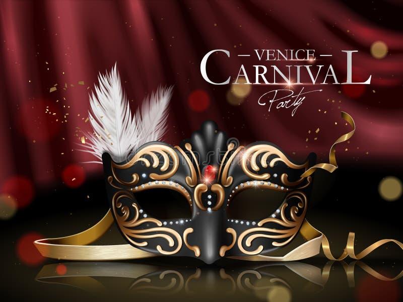 Venedig karnevalaffisch stock illustrationer