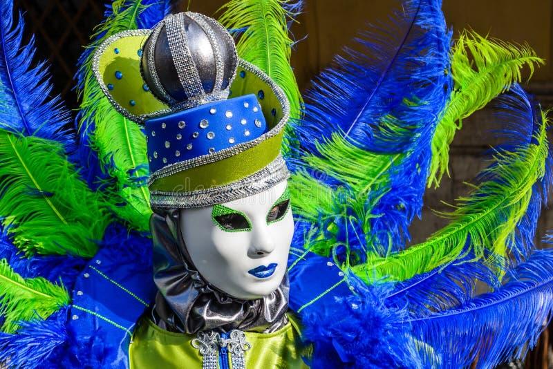 Venedig karnevalmasque, Italien arkivbilder