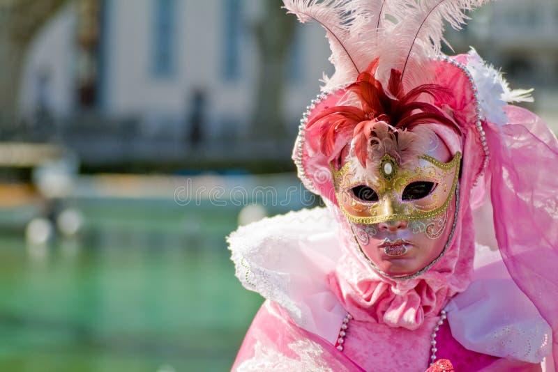 Venedig-Karnevalskostümschablone stockbilder