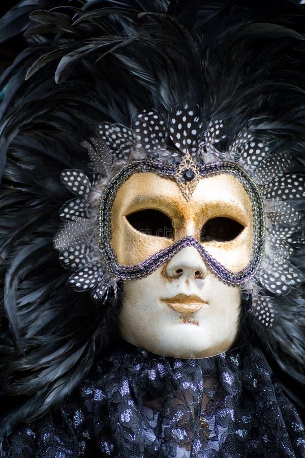 Venedig-Karnevalskostümschablone stockbild