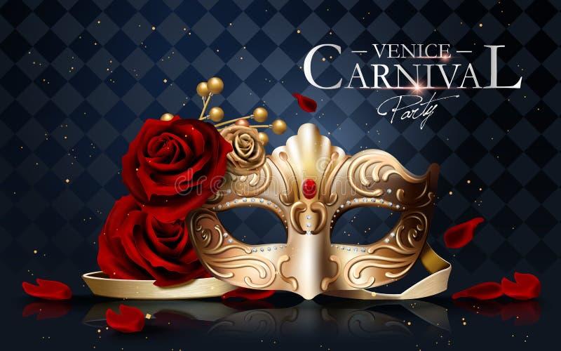 Venedig-Karnevalsplakat vektor abbildung