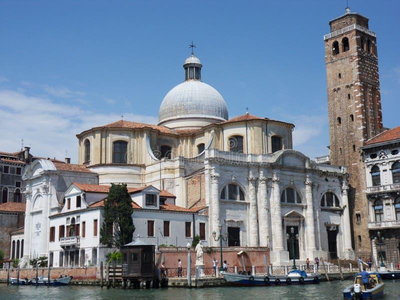 Venedig - kyrka av San Geremia royaltyfria foton