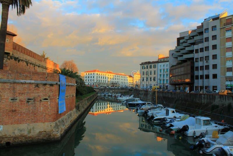 Venedig Leghorn arkivfoto
