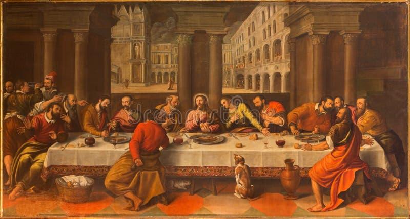 Venedig - letztes Abendessen von Christus durch Conegliano lizenzfreie stockfotografie