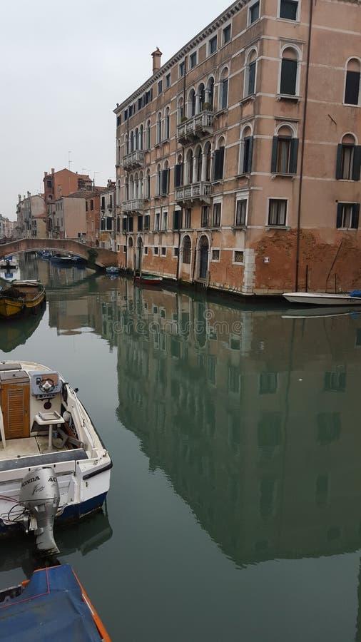 Venedig på en vinterdag royaltyfri bild