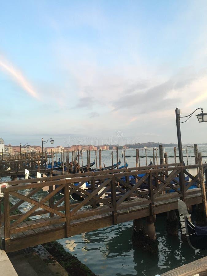 Venedig pir royaltyfria foton