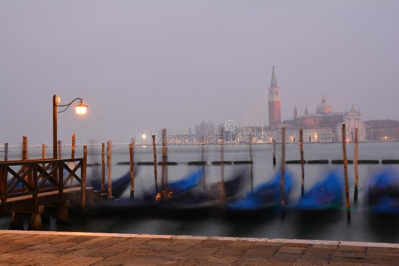 Venedig San Marco, vid natt royaltyfri bild