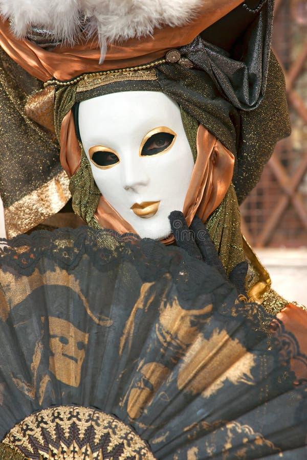 Venedig-Schablonen, Karneval. stockbild