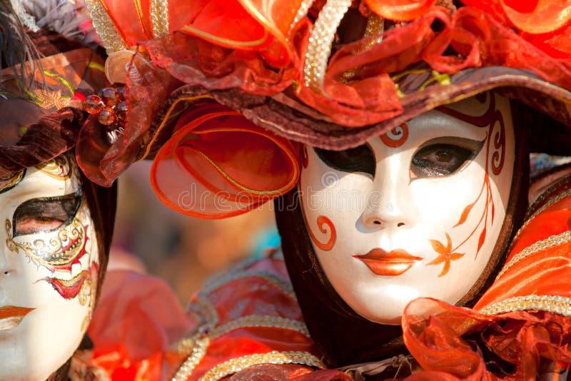 Venedig-Schablonen, Karneval. stockfoto