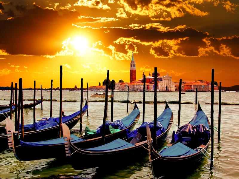 Venedig soluppgång royaltyfria bilder