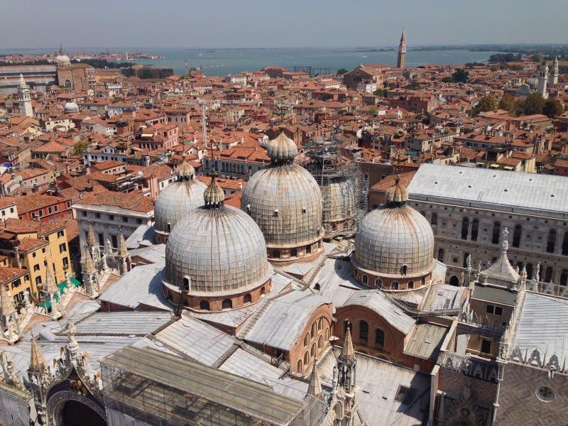Venedig-Straßenpanoramaansicht stockfotografie