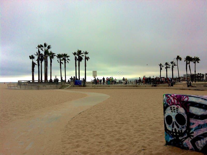 Venedig strand fotografering för bildbyråer
