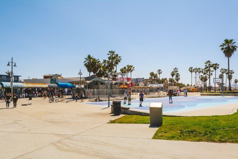 Venedig-Strand in Los Angeles lizenzfreie stockbilder