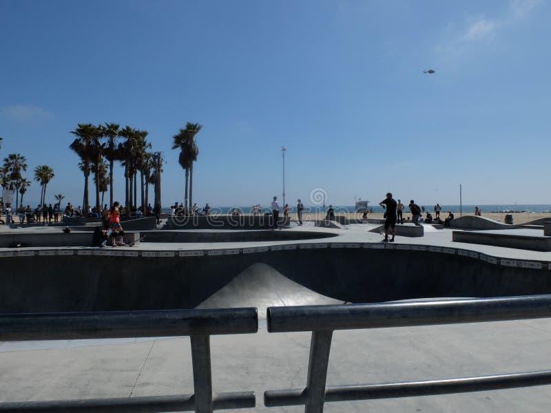 Venedig strand Skatepark arkivbilder