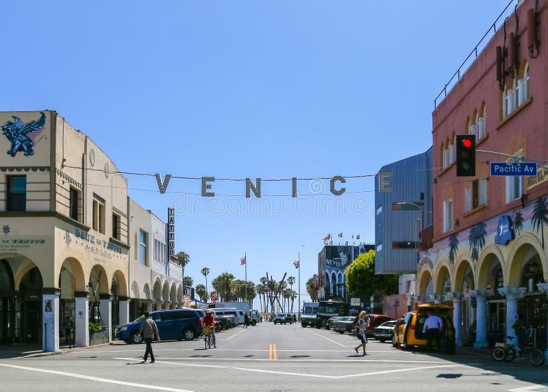 Venedig-Strand-Zeichen stockbilder