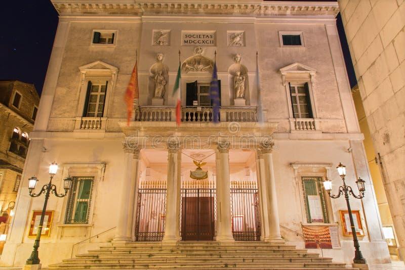Venedig- - Teatro-La Fenice stockfoto