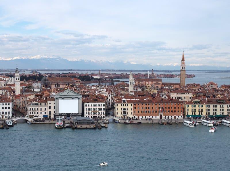 Venedig von oben lizenzfreies stockbild