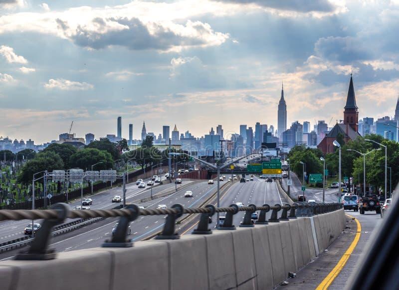 Venendo a New York immagine stock