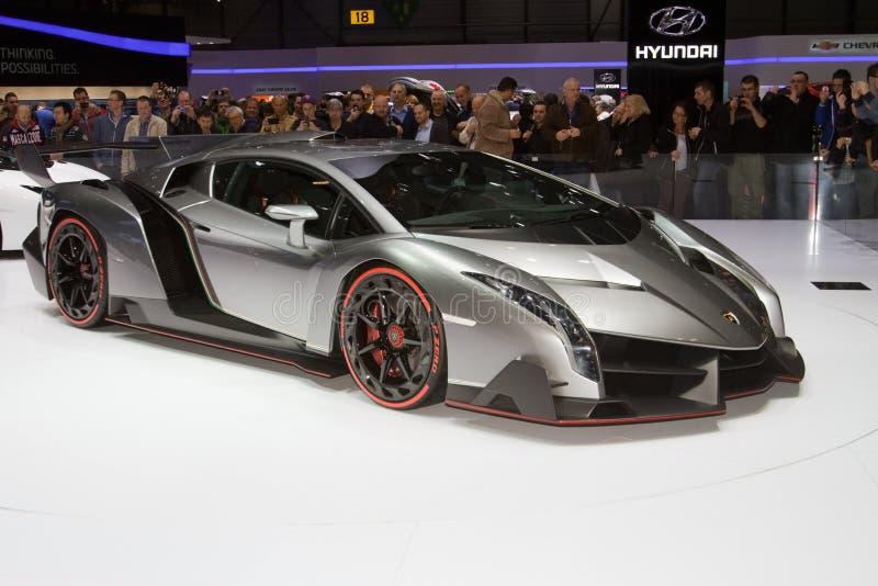 Lamborghini Veneno全球首演-日内瓦汽车展示会2013年 免版税图库摄影