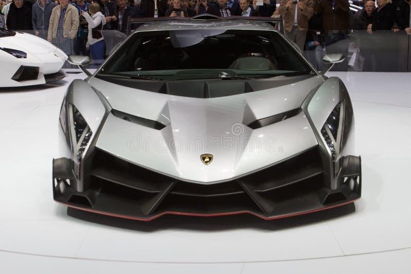 De Première van de Wereld van Lamborghini Veneno - de Show van de Motor van Genève 2013 stock afbeelding