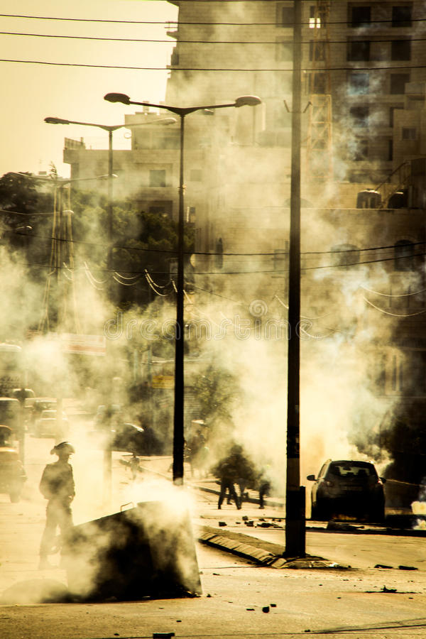 Venerdì Demonstraion a Betlemme fotografia stock