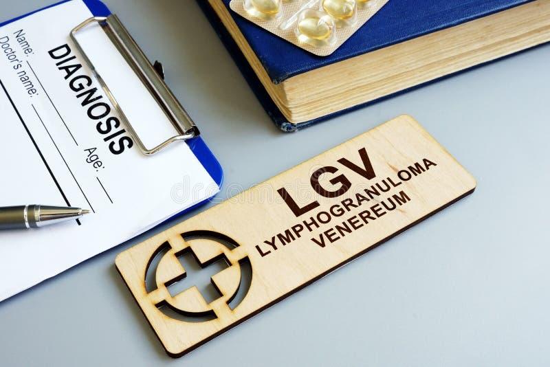 Venereum LGV de Lymphogranuloma e formulário diagnóstico fotografia de stock royalty free