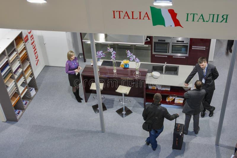 Veneta Cucine Italian kitchen designer booth
