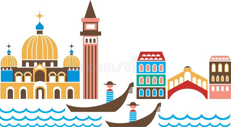 Venetië vector illustratie