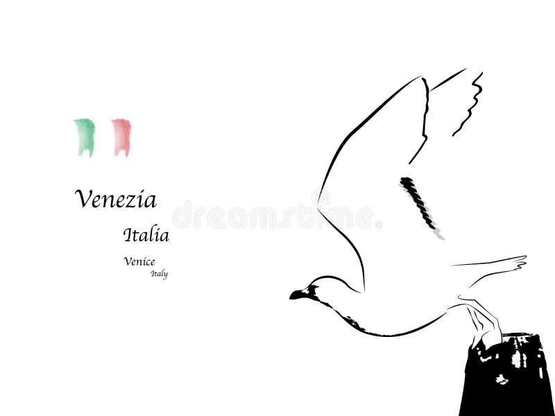 Venetië stock illustratie