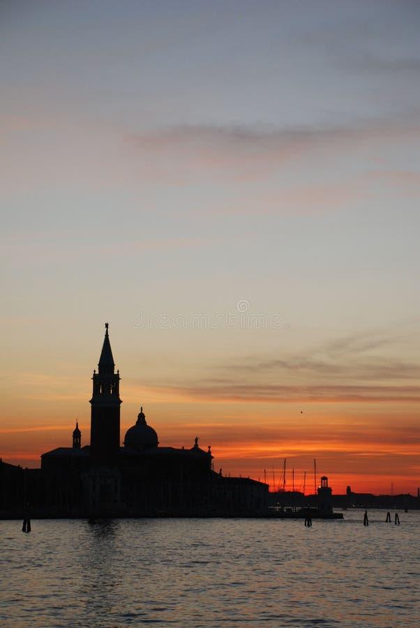 Venetië bij Zonsondergang 10 stock fotografie