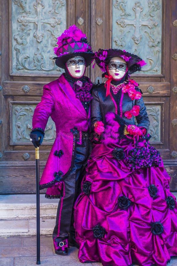 Venetië carnaval 2019 stock afbeelding