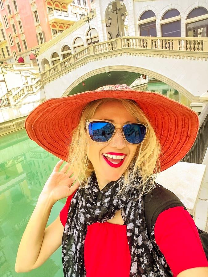 Venetië Doha selfie royalty-vrije stock foto's
