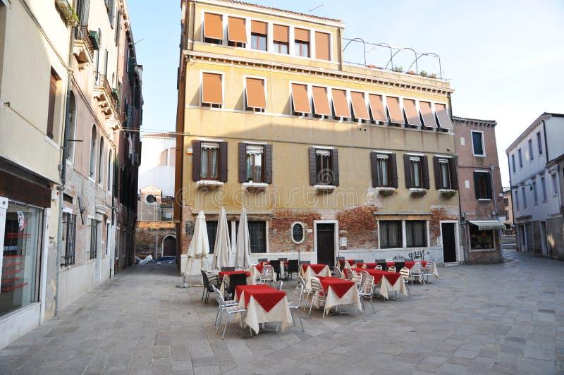 Venetië en klein vierkant royalty-vrije stock afbeelding