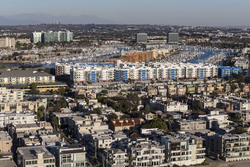 Venetië en Marina Del Rey Ocean View Homes royalty-vrije stock afbeelding
