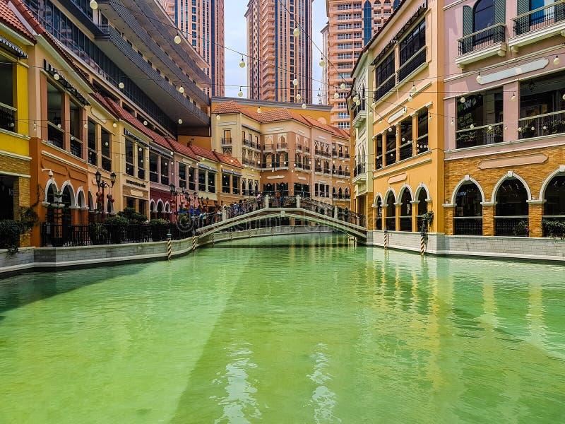 Venetië geïnspireerde Wandelgalerij royalty-vrije stock afbeelding