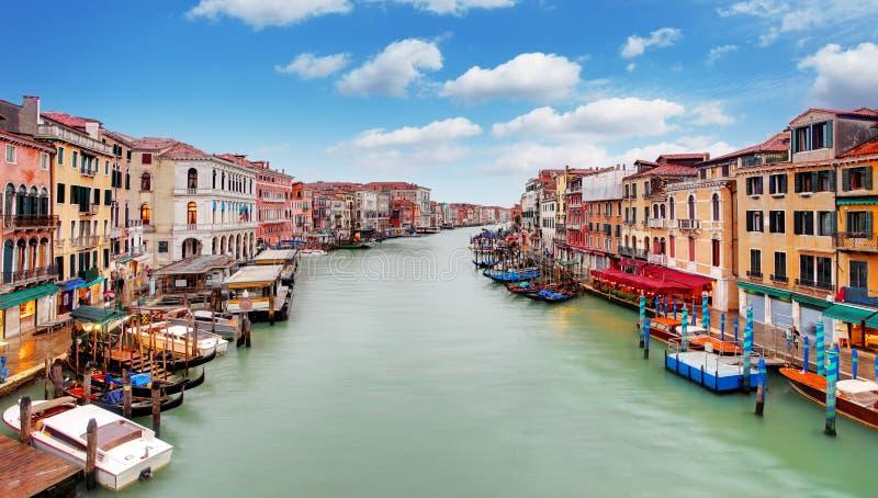 Venetië Grand Canal en gondel royalty-vrije stock foto